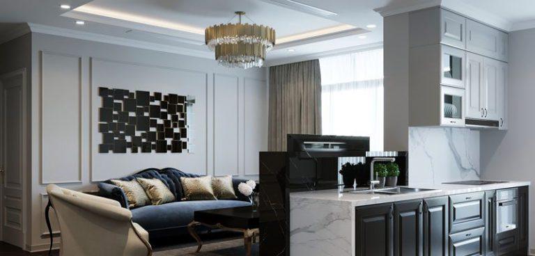 Thiết kế nội thất căn hộ 135m2 tại Hinode City 201 Minh Khai